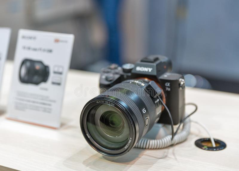 Κάμερα Sony άλφα a7 ΙΙΙ κατά τη διάρκεια της Κεντρικής και Ανατολικής Ευρ στοκ εικόνα με δικαίωμα ελεύθερης χρήσης
