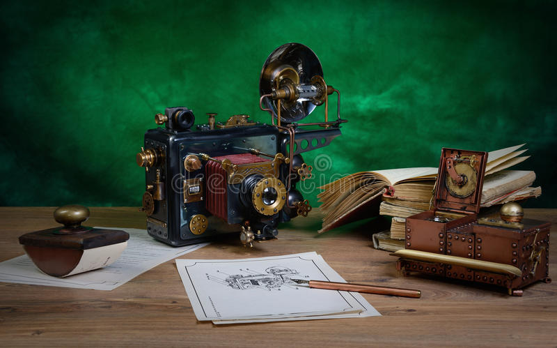 Κάμερα steampunk στοκ εικόνες