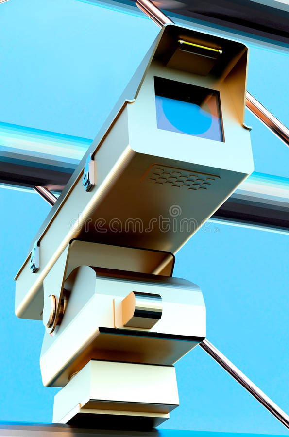 Κάμερα surveilance κυκλοφορίας στοκ φωτογραφίες με δικαίωμα ελεύθερης χρήσης