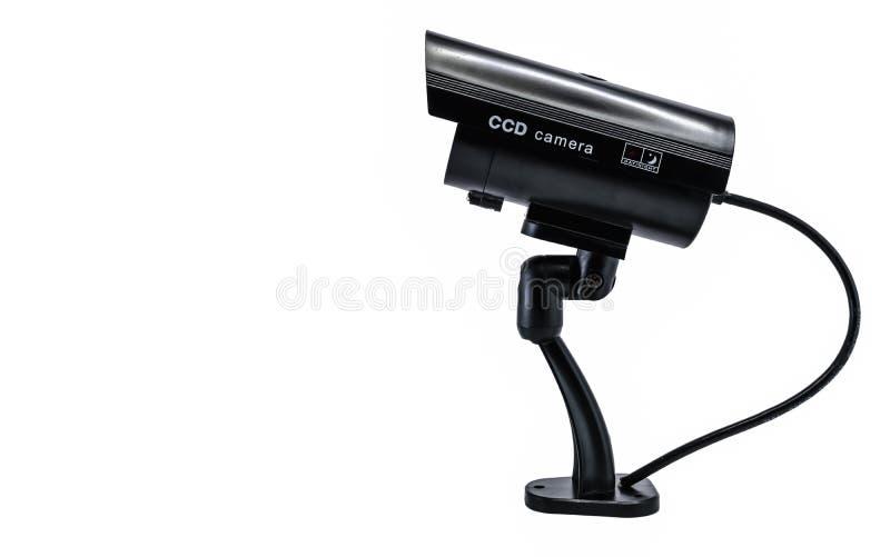 Κάμερα Surveilance CCD που απομονώνεται στο άσπρο υπόβαθρο στοκ εικόνα με δικαίωμα ελεύθερης χρήσης