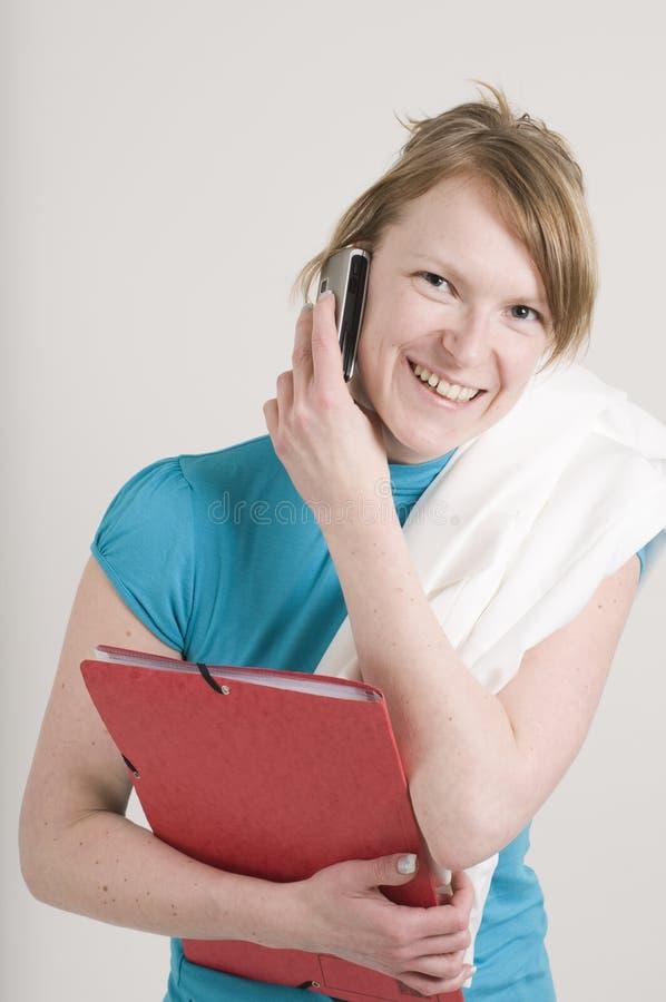 Κάνετε ένα τηλεφώνημα στοκ εικόνα με δικαίωμα ελεύθερης χρήσης