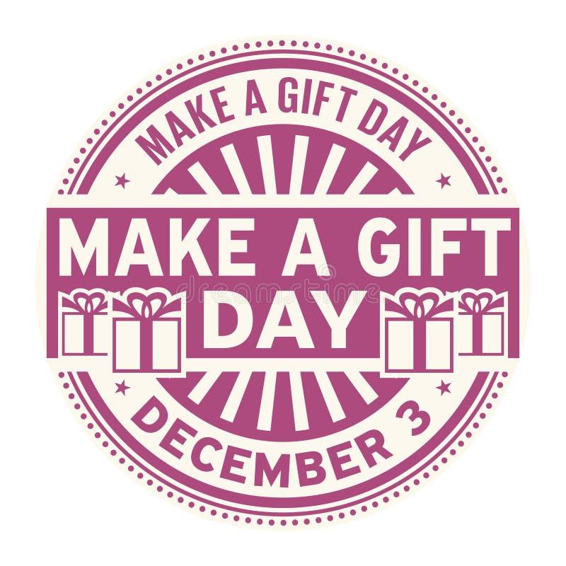 Κάνετε μια ημέρα δώρων, στις 3 Δεκεμβρίου απεικόνιση αποθεμάτων