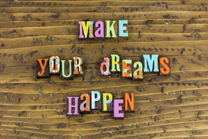 Κάνετε τα όνειρά σας να συμβούν ονειρεμένος στοκ φωτογραφίες με δικαίωμα ελεύθερης χρήσης
