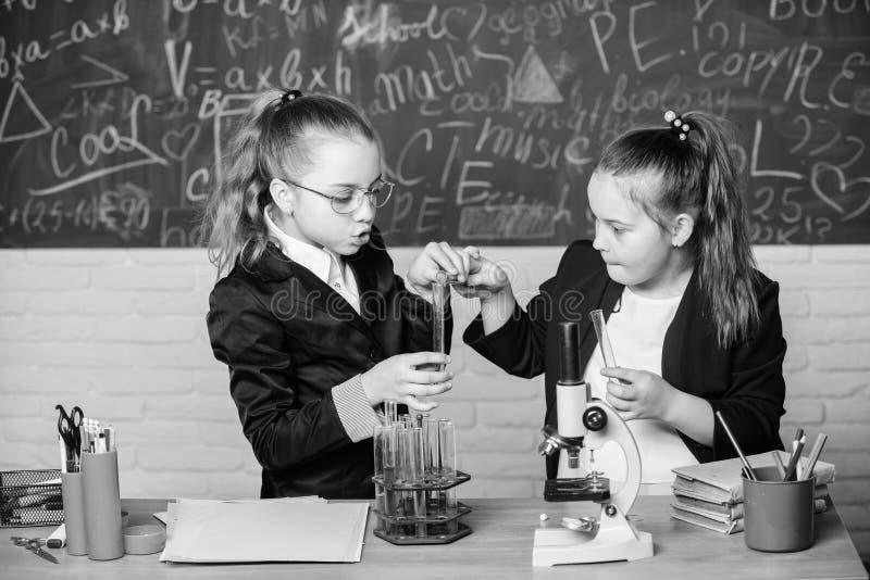 Κάνετε τη μελέτη να ενδιαφέρει χημείας Εκπαιδευτική έννοια πειράματος Σωλήνες μικροσκοπίων και δοκιμής στον πίνακα Εκτελέστε στοκ φωτογραφία με δικαίωμα ελεύθερης χρήσης