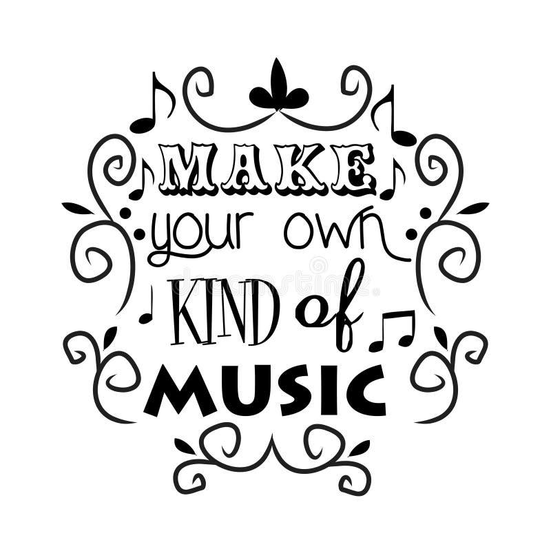 Κάνετε το είδος μουσικής σας διανυσματική απεικόνιση