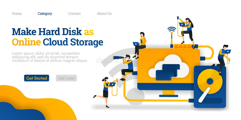 Κάνετε το σκληρό δίσκο ως σε απευθείας σύνδεση αποθήκευση σύννεφων μοίρασμα αρχείων στη σκληρή αποθήκευση για να καλύψει τη φιλοξ απεικόνιση αποθεμάτων