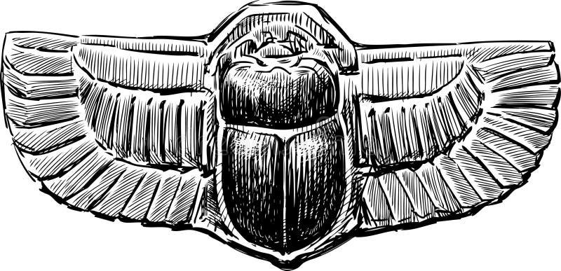 Κάνθαρος Scarab ελεύθερη απεικόνιση δικαιώματος