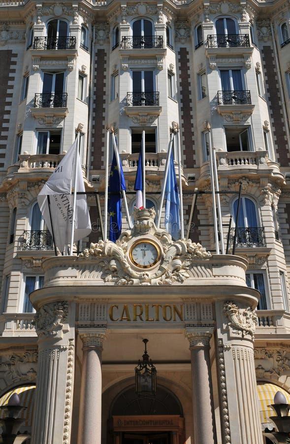 Κάννες, Γαλλία - 15 Απριλίου 2016: Carlton στοκ φωτογραφία με δικαίωμα ελεύθερης χρήσης