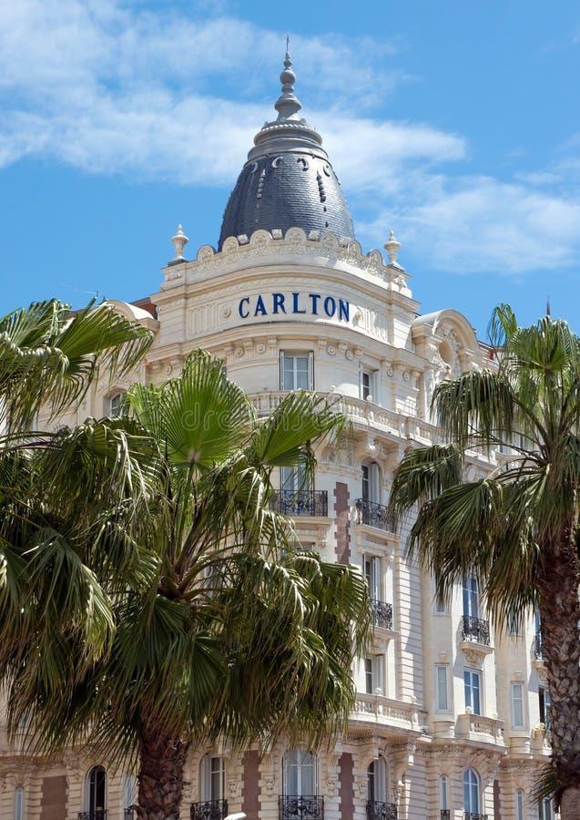 Κάννες - ξενοδοχείο πολυτελείας Carlton στοκ φωτογραφία με δικαίωμα ελεύθερης χρήσης
