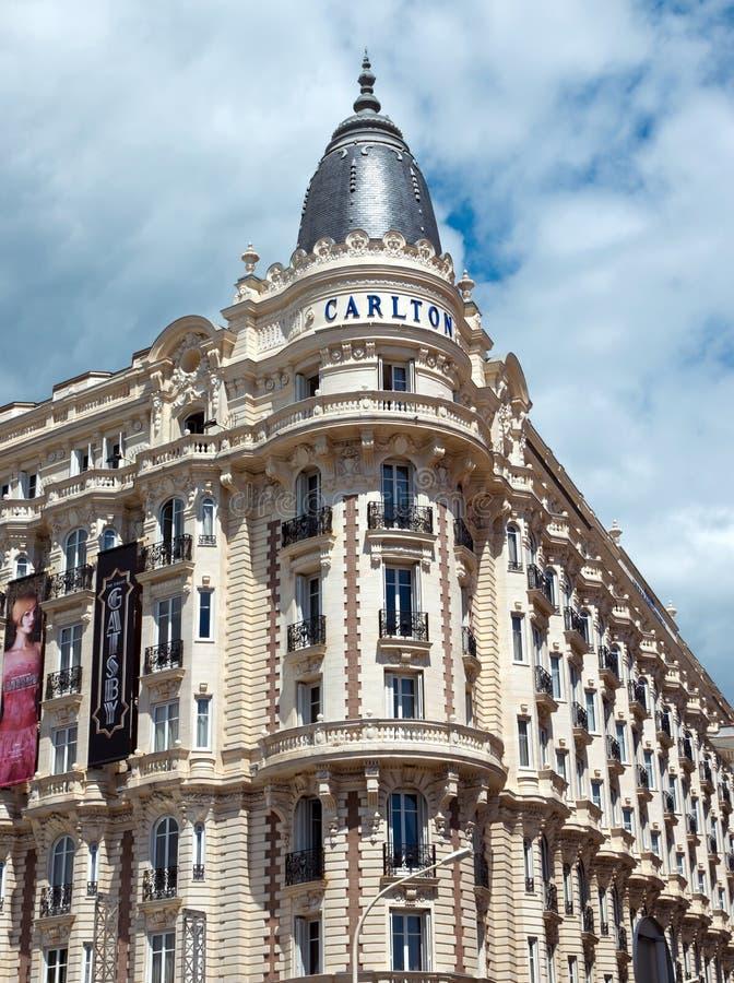 Κάννες - ξενοδοχείο πολυτελείας Carlton στοκ φωτογραφίες με δικαίωμα ελεύθερης χρήσης