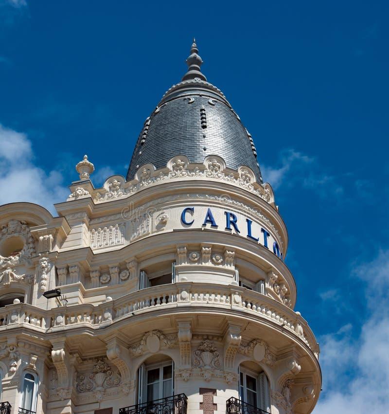 Κάννες - ξενοδοχείο πολυτελείας Carlton στοκ φωτογραφίες