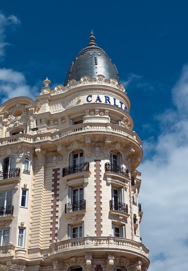 Κάννες - ξενοδοχείο πολυτελείας Carlton στοκ εικόνα