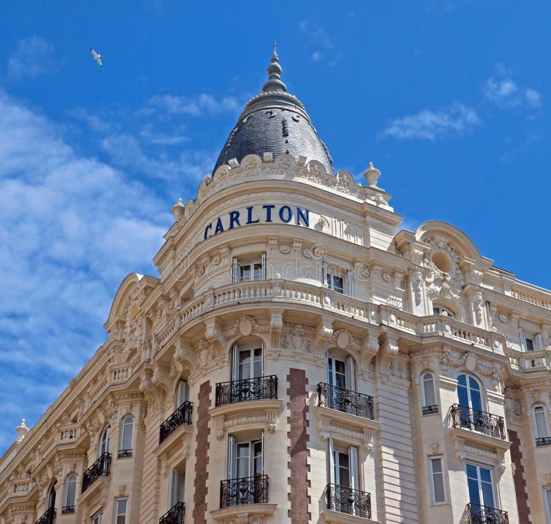Κάννες - ξενοδοχείο πολυτελείας Carlton στοκ εικόνα με δικαίωμα ελεύθερης χρήσης