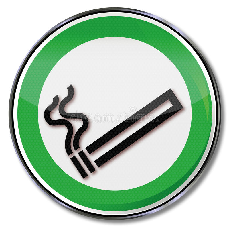Κάπνισμα ενός τσιγάρου ελεύθερη απεικόνιση δικαιώματος