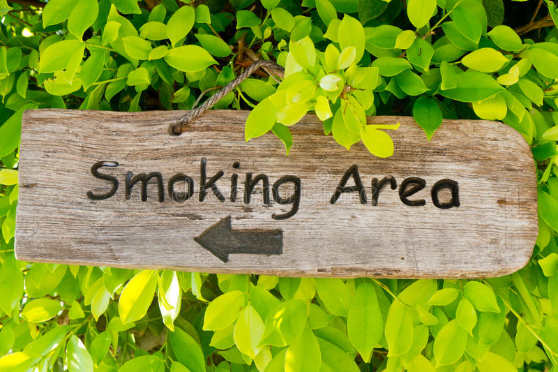 κάπνισμα περιοχής στοκ εικόνα