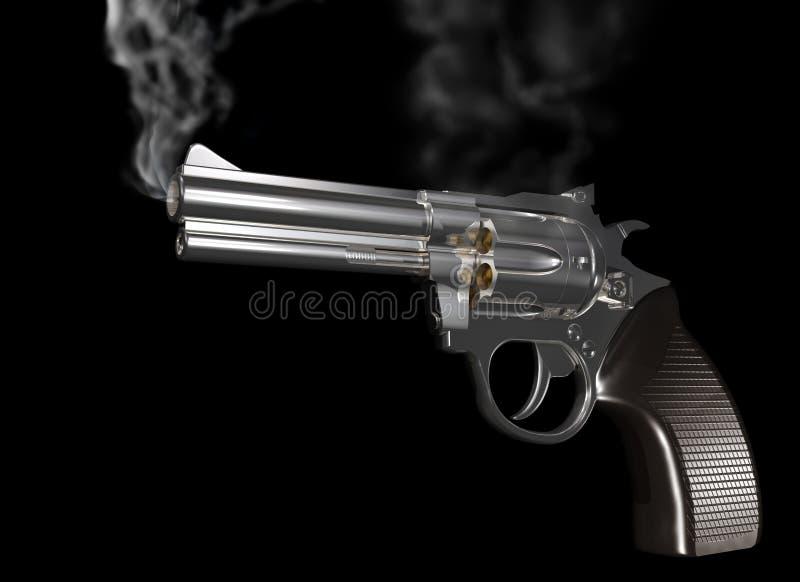 κάπνισμα πυροβόλων όπλων ελεύθερη απεικόνιση δικαιώματος