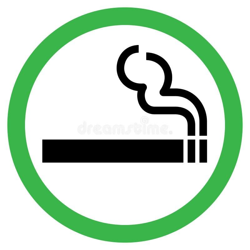 κάπνισμα σημαδιών περιοχής διανυσματική απεικόνιση