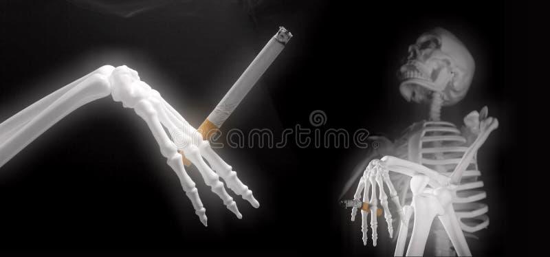 κάπνισμα σκελετών συμβα&lamb στοκ εικόνα με δικαίωμα ελεύθερης χρήσης
