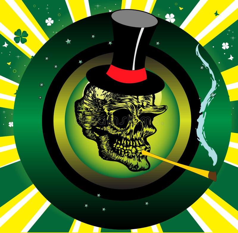κάπνισμα χαμόγελου κρανί&omeg ελεύθερη απεικόνιση δικαιώματος