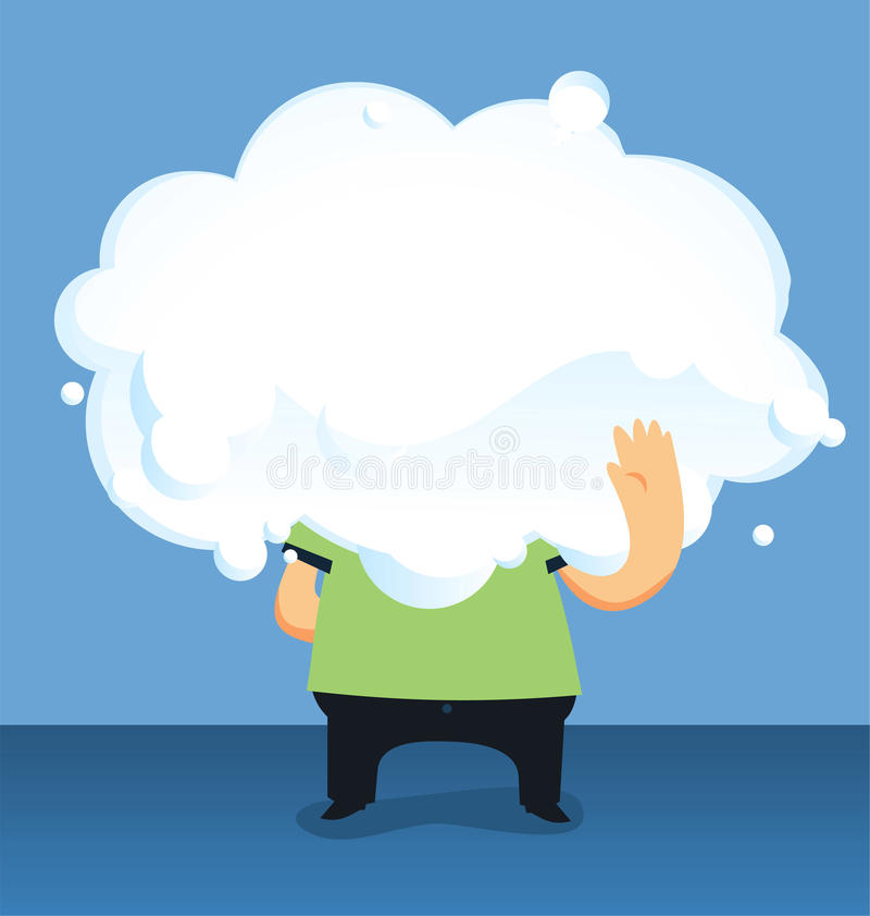 Κάποιος τύπος στο σύννεφο διανυσματική απεικόνιση