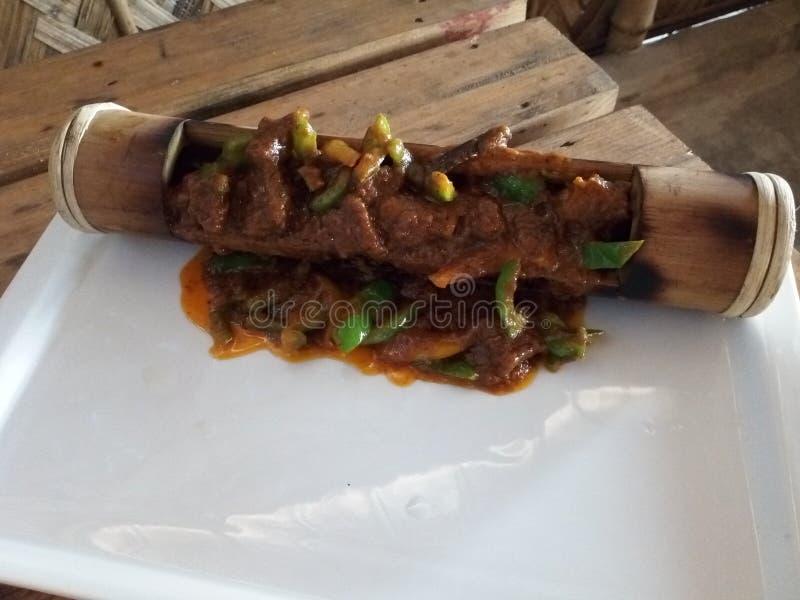 Κάρρυ βόειου κρέατος μπαμπού στοκ εικόνες