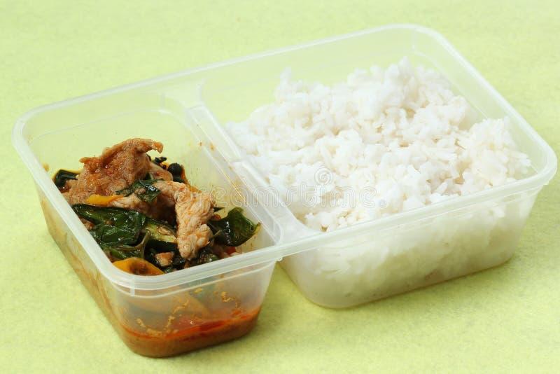 Κάρρυ κοτόπουλου panang με το ρύζι στοκ εικόνες με δικαίωμα ελεύθερης χρήσης