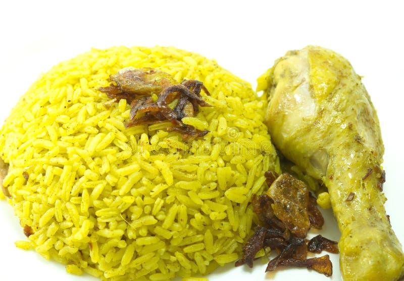 Κάρρυ ρυζιού κοτόπουλου, ινδικά τρόφιμα στοκ εικόνα