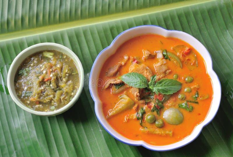 Κάρρυ χοιρινού κρέατος RES, ταϊλανδική κουζίνα στοκ εικόνα
