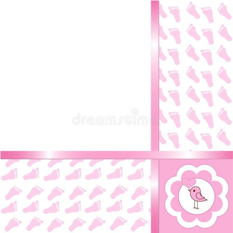 Κάρτα άφιξης κοριτσακιών απεικόνιση αποθεμάτων