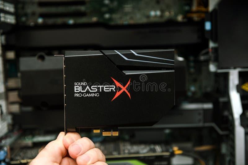 Κάρτα ήχου Creative Sound Blaster Hi-Resolution PCIe Gaming στοκ εικόνες με δικαίωμα ελεύθερης χρήσης