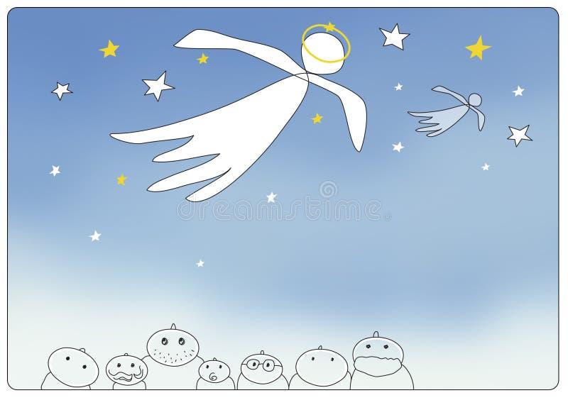 κάρτα αγγέλου ελεύθερη απεικόνιση δικαιώματος