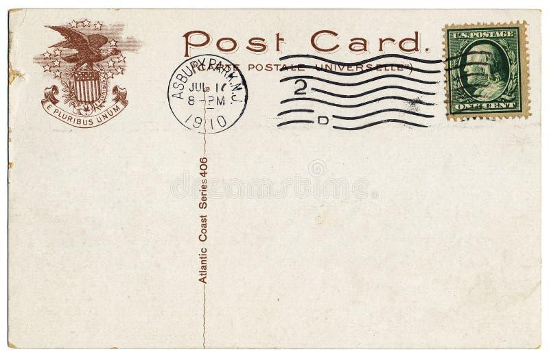 κάρτα ακτών του 1910 ατλαντική στοκ φωτογραφία με δικαίωμα ελεύθερης χρήσης