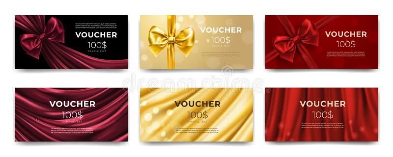 Κάρτα αποδείξεων ή δώρων, πιστοποιητικό για τα χρήματα ελεύθερη απεικόνιση δικαιώματος