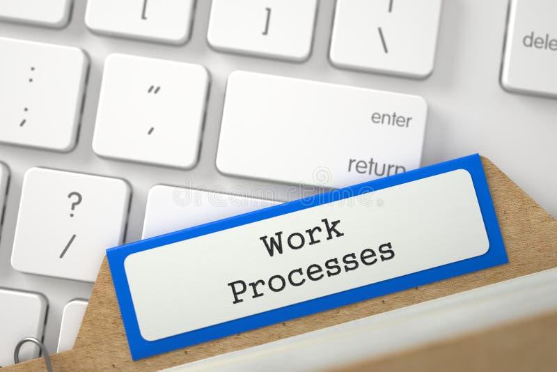 Κάρτα αρχείων με τις διαδικασίες εργασίας τρισδιάστατος δώστε ελεύθερη απεικόνιση δικαιώματος