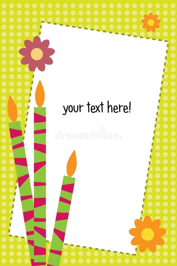 κάρτα γενεθλίων ελεύθερη απεικόνιση δικαιώματος
