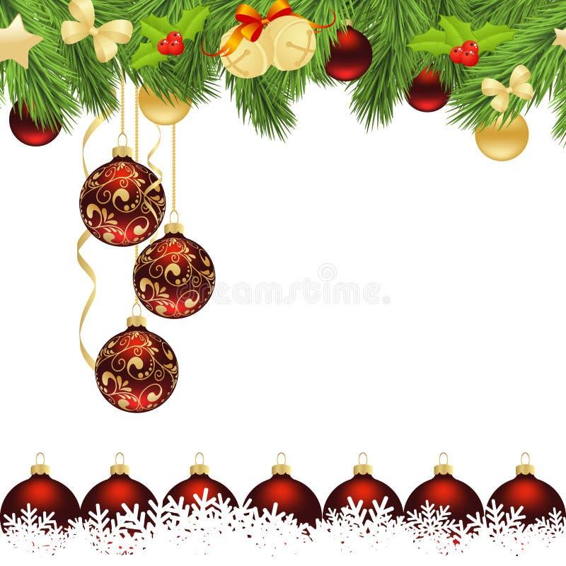 Κάρτα για τα Χριστούγεννα απεικόνιση αποθεμάτων