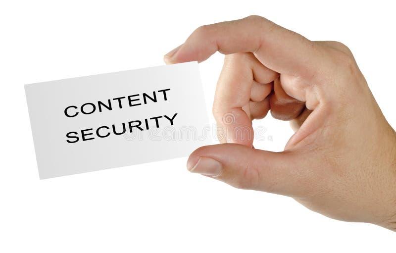 Κάρτα για την ικανοποιημένη ασφάλεια στοκ φωτογραφίες με δικαίωμα ελεύθερης χρήσης
