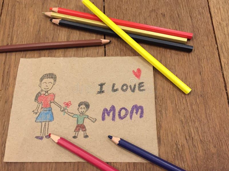 Κάρτα για το mom μου στοκ φωτογραφία με δικαίωμα ελεύθερης χρήσης