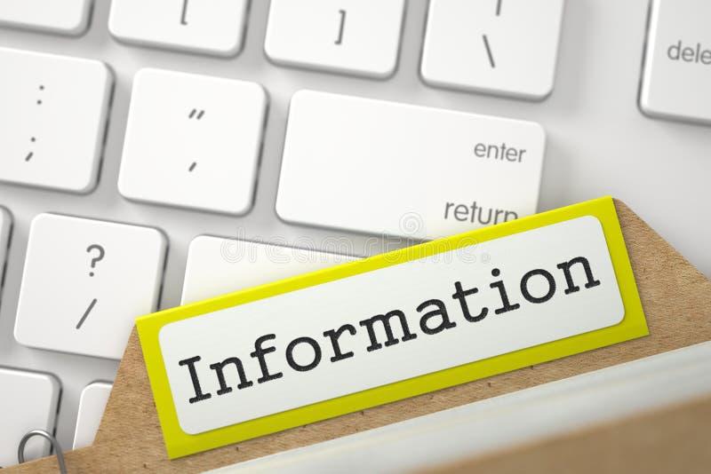 Κάρτα δεικτών είδους με τις πληροφορίες τρισδιάστατος στοκ εικόνες