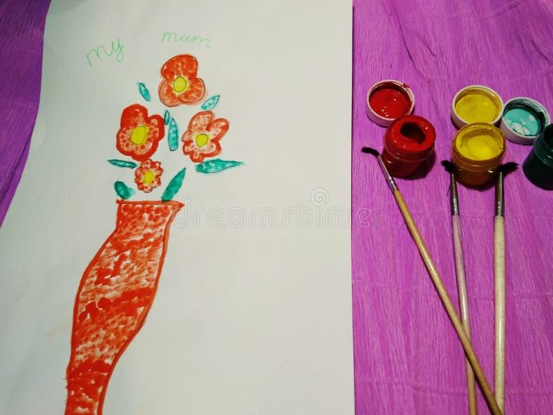 Κάρτα εικόνων για την ημέρα της μητέρας από ένα παιδί στοκ εικόνες με δικαίωμα ελεύθερης χρήσης