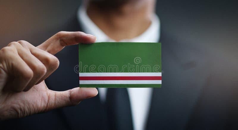Κάρτα εκμετάλλευσης επιχειρηματιών της τσετσένιας Δημοκρατίας της σημαίας Ichkeria στοκ εικόνες με δικαίωμα ελεύθερης χρήσης