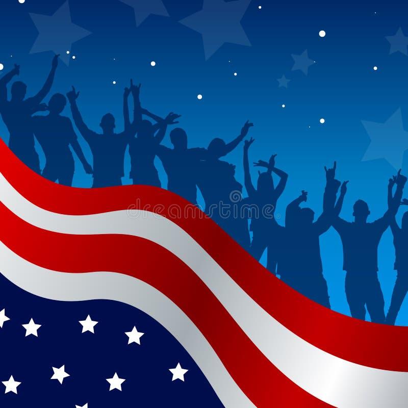 Κάρτα εορτασμού ημέρας της ανεξαρτησίας διανυσματική απεικόνιση