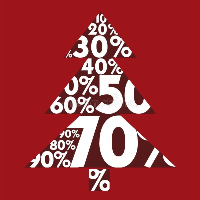Κάρτα ευτυχές λευκό αγορών πώλησης κοριτσιών Χριστουγέννων ανασκόπησης Μεγάλες εκπτώσεις διανυσματική απεικόνιση