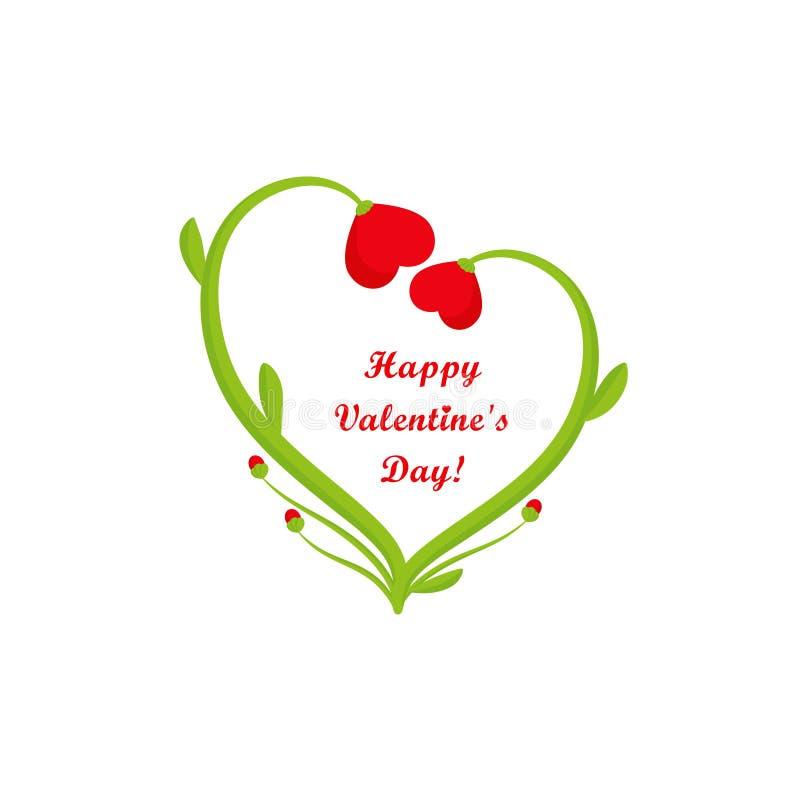 Κάρτα ημέρας βαλεντίνων, δύο καρδιές ελεύθερη απεικόνιση δικαιώματος