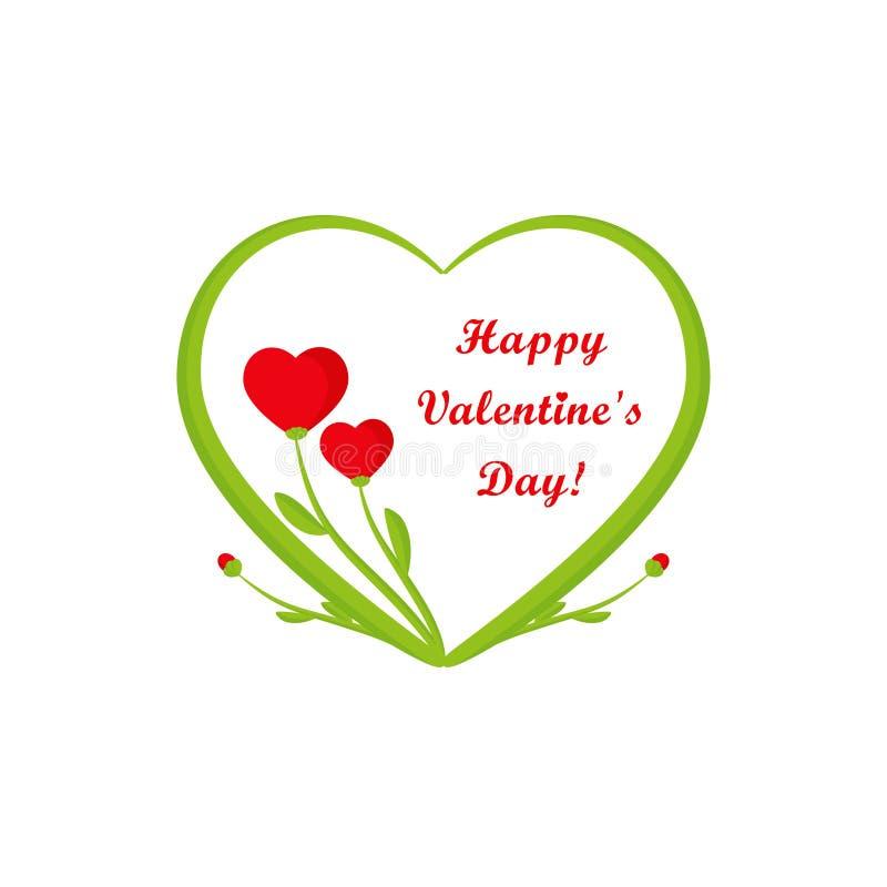 Κάρτα ημέρας βαλεντίνων, δύο καρδιές απεικόνιση αποθεμάτων