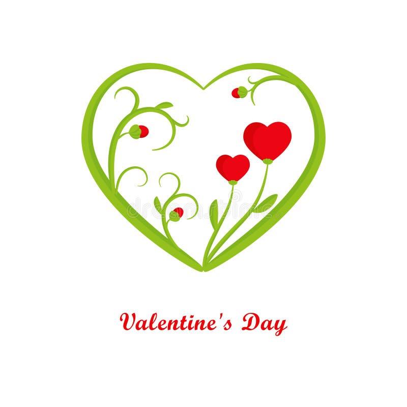 Κάρτα ημέρας βαλεντίνων με τις καρδιές απεικόνιση αποθεμάτων
