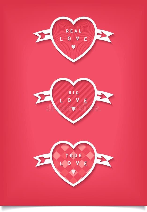 Κάρτα ημέρας βαλεντίνων με τις καρδιές ελεύθερη απεικόνιση δικαιώματος