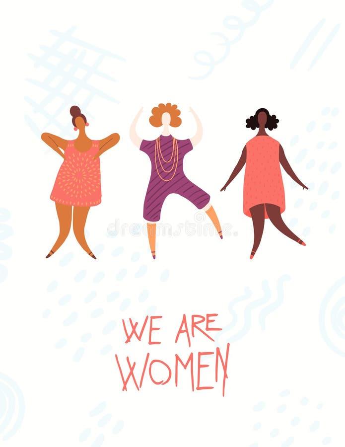 Κάρτα ημέρας γυναικών απεικόνιση αποθεμάτων