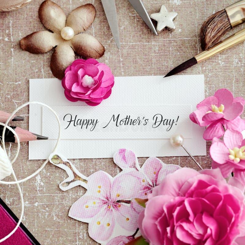 Κάρτα ημέρας μητέρων στοκ εικόνες