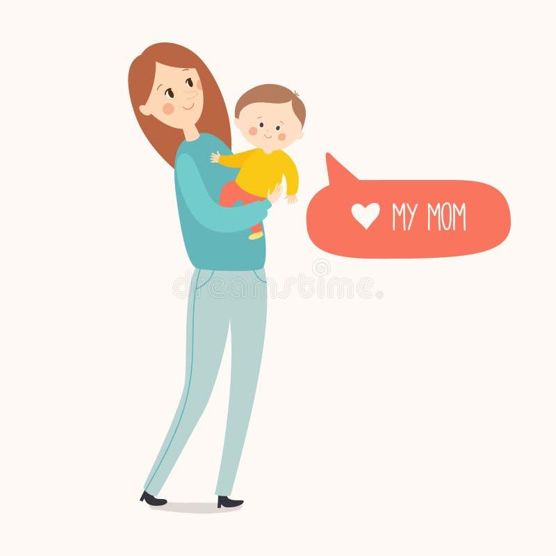Κάρτα ημέρας μητέρων ` s διανυσματική απεικόνιση